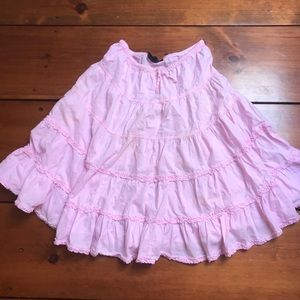 Pink ankle skirt